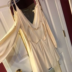 Off white backless dress